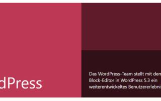wordpress-5.3. veröffentlicht